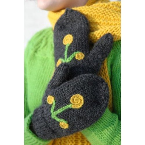 Valley Yarns 589 Sprig Scarf & Mittens - Download (589)