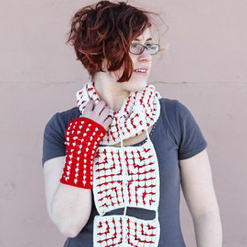 Valley Yarns 592 Nordic Tiles Scarf & Fingerless Mitts - Download (592)
