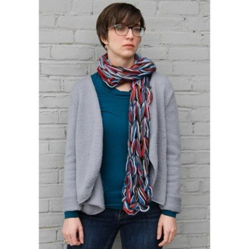 Valley Yarns 593 Arm Knit Scarf (Free) -  ()