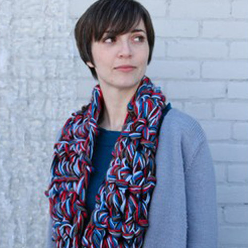 Valley Yarns 594 Finger Crochet Cowl/Scarf (Free) -  ()