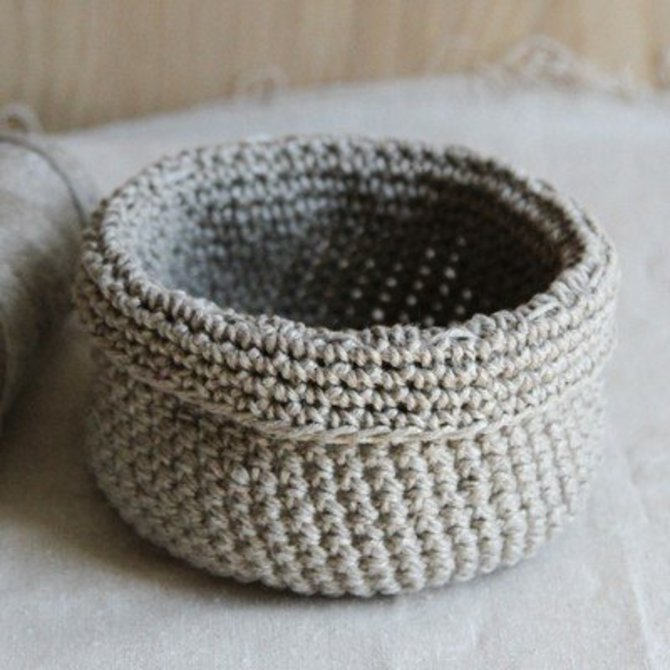 Valley Yarns 595 Crocheted Linen Basket Free At Webs Yarn