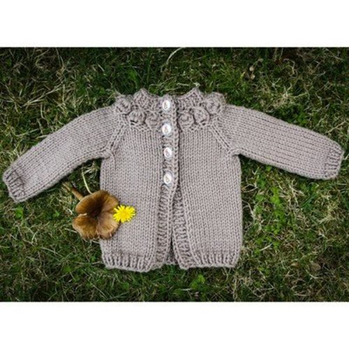 Valley Yarns 602 Cremini Baby Cardigan - Download (602)