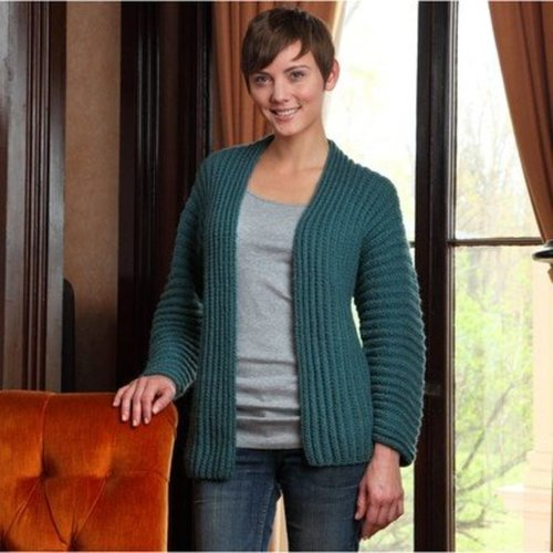 "Valley Yarns 606 Flowing Rib Cardigan Kit - 36"" (01)"
