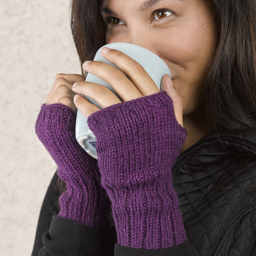 Valley Yarns 612 Essential Fingerless Gloves - Download (612)