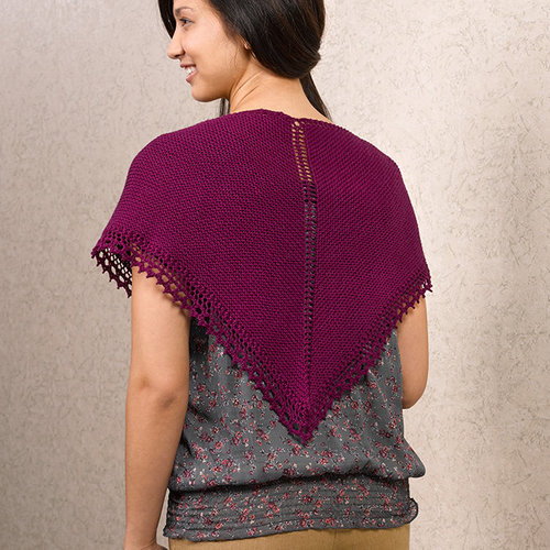 Valley Yarns 613 Simple Shawl Kit - Natural (0010)