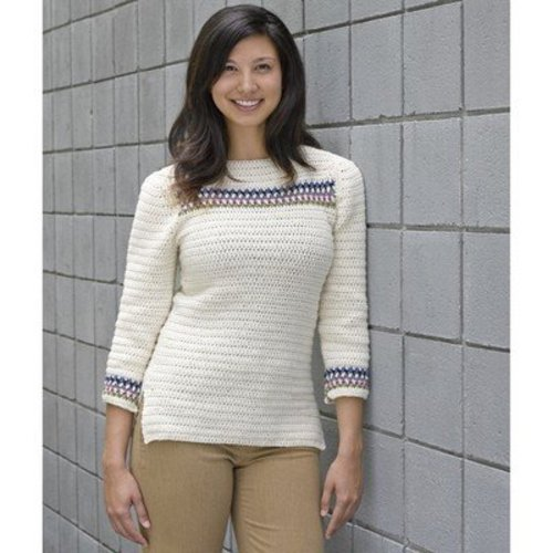 Valley Yarns 618 Banded Yoke Pullover - Download (618)