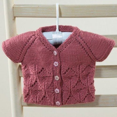 Valley Yarns 632 Aprilis Baby Cardigan - Download (632)