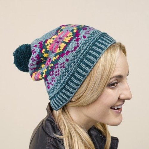 Valley Yarns 639 Plesti Fair Isle Pullover and Hat - Download (639)