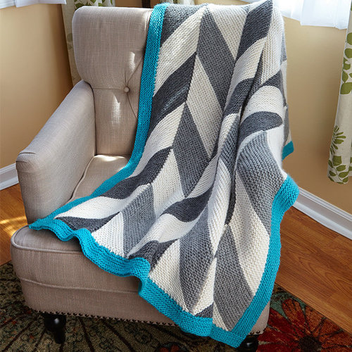 Valley Yarns 645 Herringbone Blanket Kit - Large (LG)