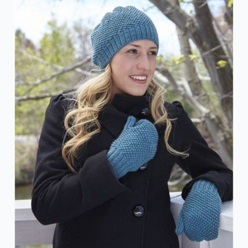 Valley Yarns 659 Hobnail Hat and Mittens - Download (659)