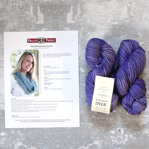 Valley Yarns 677 Bookstack Cowl Kit -  ()