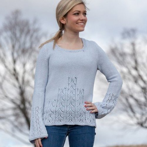 Valley Yarns 692 Ascending Leaves Pullover - Download (692)