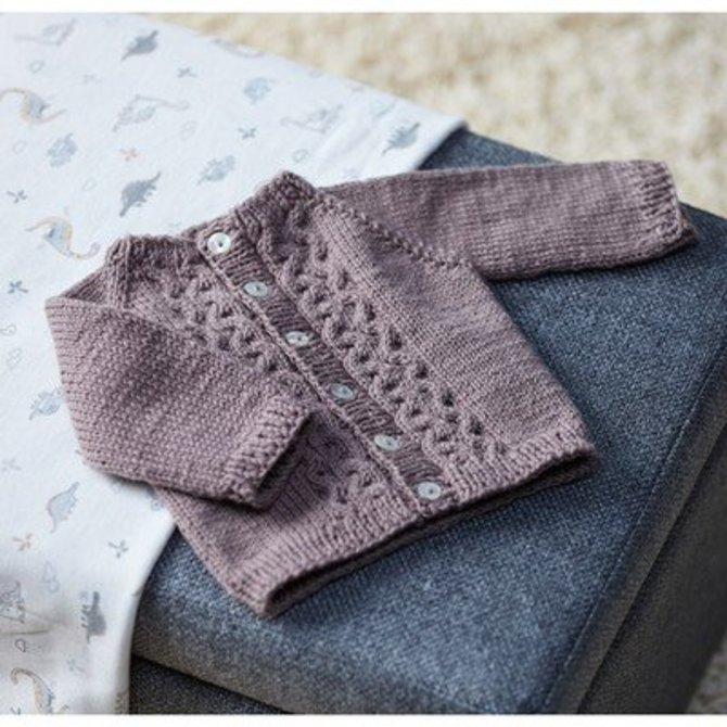 728ac86b0 Valley Yarns 707 Frida Baby Cardigan at WEBS