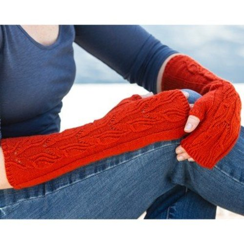 Valley Yarns 715 Olivenhain Fingerless Mitts - Download (715)