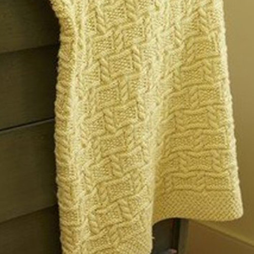 Valley Yarns 729 Trellis Afghan Kit - Small (01)