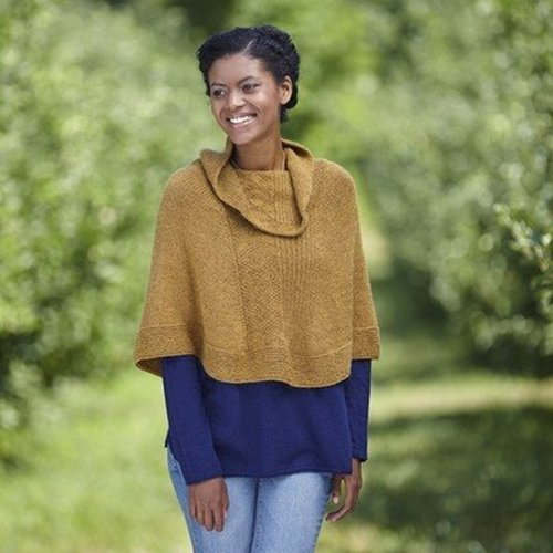 Valley Yarns 731 Lake House Poncho Kit - S-M (01)