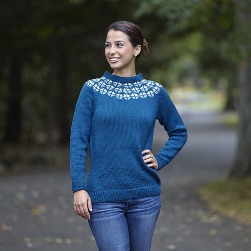 Valley Yarns 743 Delphine Pullover - Printed (743P)