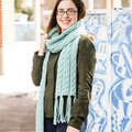 Valley Yarns 754 Ziggy Scarf Kit - Aqua Oasis (201)