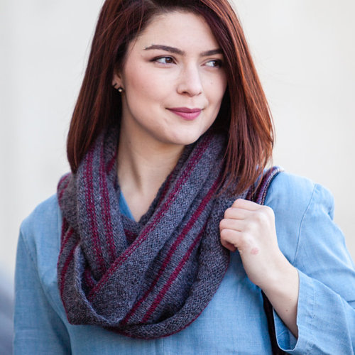 Valley Yarns 759 Partridgefield Cowl Kit - Ash-Red Maple (12)