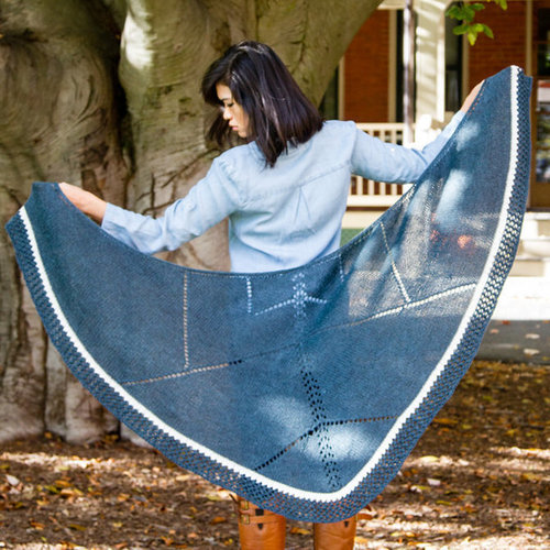 Valley Yarns 779 Limestone Inclusion Shawl Kit - Ocean Heather/Natural (OCHE)