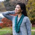 Valley Yarns 780 Anouk Cowl Kit - Gray Teal (GRTE)