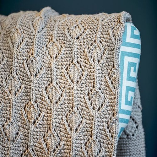 Valley Yarns 783 Shea Lap Blanket Kit - Linen (01)