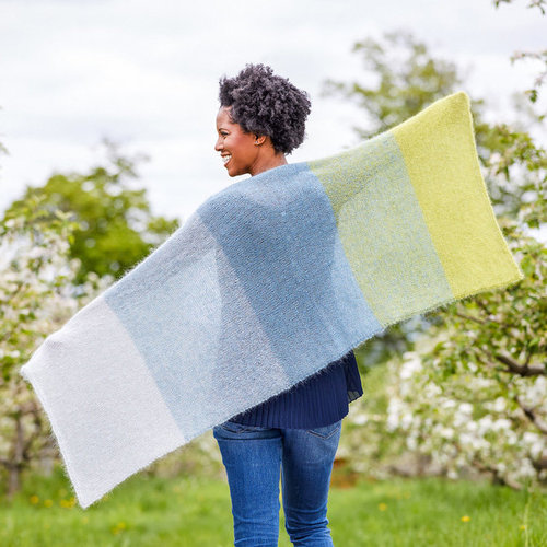 Valley Yarns 790 Cold Spring Shawl Kit - Model (01)