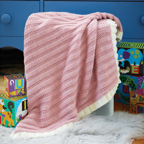 "Valley Yarns 802 Seeded Rib Blanket Kit - 29"" x 29"" - 32"" x 32"" (01)"