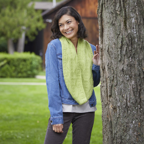 Valley Yarns 804 Hudson Cowl Kit - Spring Leaf (01)