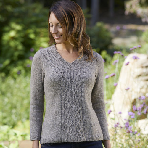 "Valley Yarns 814 Adilah Pullover Kit - 36"" (01)"
