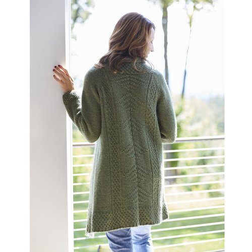 "Valley Yarns 815 Moss Fern Cardigan Kit - 36"" (01)"
