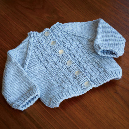 Valley Yarns 822 Soap Bubbles Baby Cardigan Kit - 0-6 mos (01)
