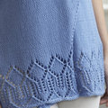 "Valley Yarns 832 Wrap It Up Asymmetrical Lace Hem Tank Kit - 32-36"" (01)"