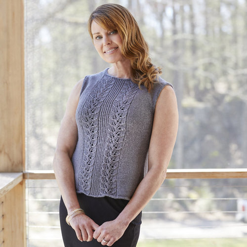 Valley Yarns 842 Rachel Leaf Lace Tank - Download (842)