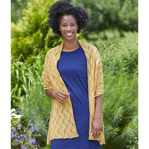 Valley Yarns 949 Saffron Kit - Honey Gold - Model (01)