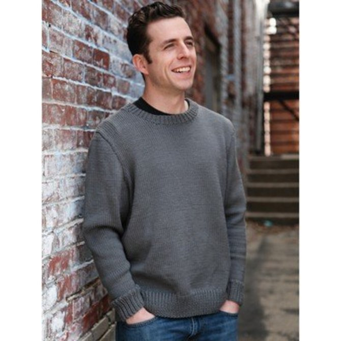 Valley Yarns B11 Basic Mens Pullover At Webs Yarn