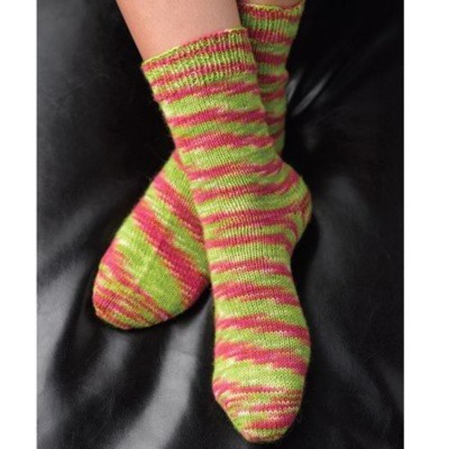 Valley Yarns B4 Basic Toe-Up Socks - Download (B4)
