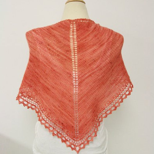 Valley Yarns B6 Basic Triangle Shawl - Download (B6)