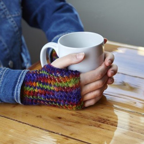 Valley Yarns Flower Garden Mitts (Free) -  ()