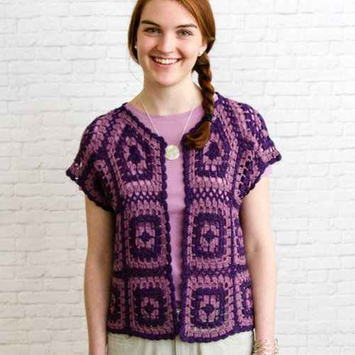 Valley Yarns WEBS DIR04 Motif Bolero by Doris Chan - Download (2015PDF04)