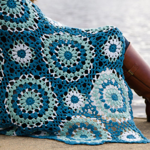 Valley Yarns WEBS DIR12 Lace Motif Afghan by Doris Chan - Download (2015PDF12)