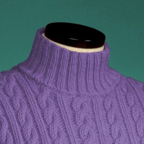 Vermont Fiber Designs 119 Cable and Rib Turtleneck PDF -  ()