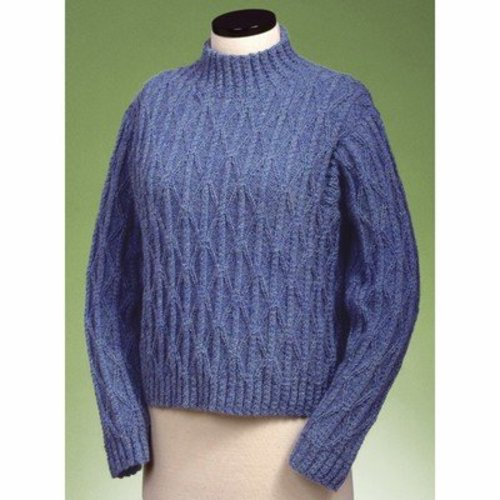 Vermont Fiber Designs 122 Twisted Cable And Diamond Turtleneck PDF -  ()