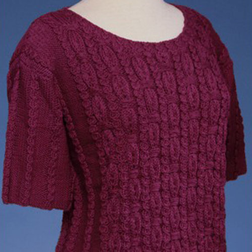 Vermont Fiber Designs 143 Ornamental Rib Pullover In 2 Sleeve Lengths PDF -  ()