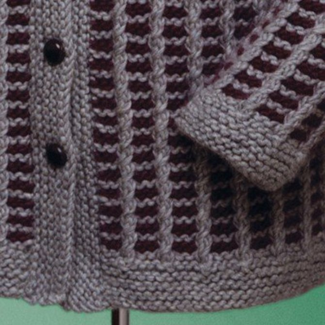Knitting Stitch Slip 1 Wyif : Vermont Fiber Designs 152 Unisex Slip Stitch Coat PDF at WEBS Yarn.com