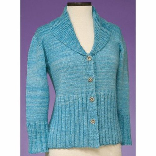 Vermont Fiber Designs 168 Simple Cardigan PDF -  ()