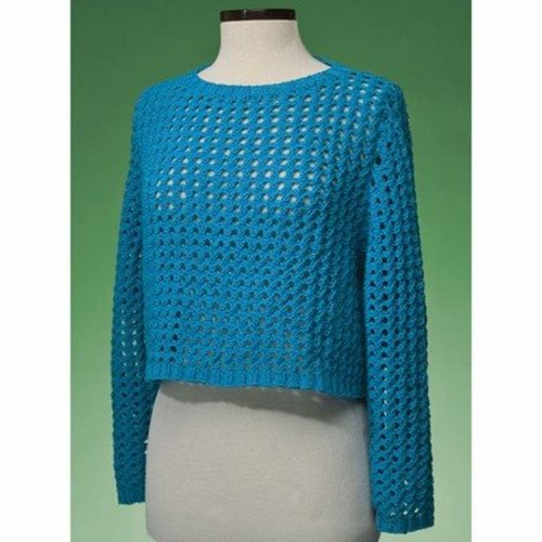 Vermont Fiber Designs 171 Top-Down Cropped Pullover PDF -  ()