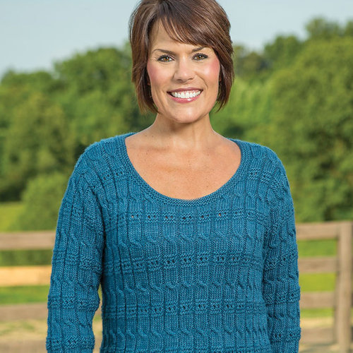 Vermont Fiber Designs 186 Cable And Eyelet Pullover PDF -  ()