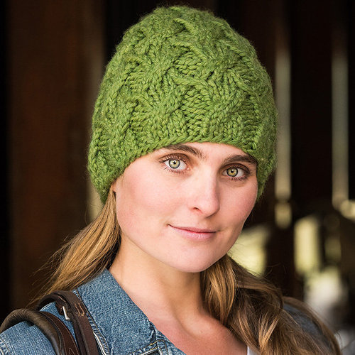 Vermont Fiber Designs 706 Crossover Cable Hat PDF -  ()