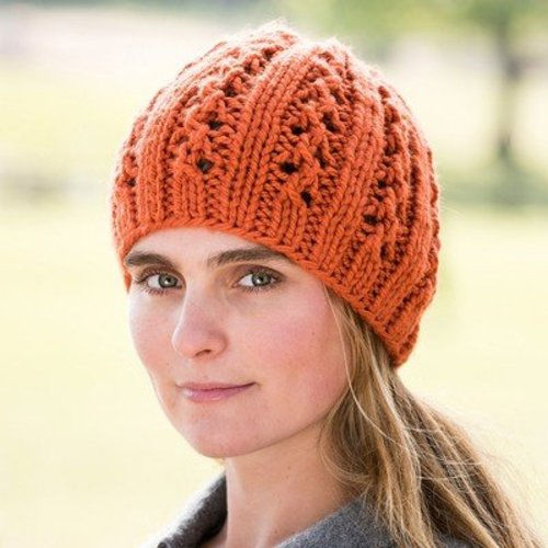 Vermont Fiber Designs Double Lace Rib Hat PDF -  ()